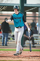 Scott Combs (11) of Divine Child High School in Northville, Michigan during the Under Armour All-American Pre-Season Tournament presented by Baseball Factory on January 14, 2017 at Sloan Park in Mesa, Arizona.  (Art Foxall/MJP/Four Seam Images)