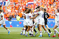 Celebration et victoire equipe (USA)<br /> Lyon 07/07/2019<br /> Football Womens World Cup Final <br /> United States - Netherlands <br /> Photo  Gwendoline LeGoff / Panoramic/Insidefoto <br /> ITALY ONLY