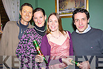 Friends enjoying their christmas party at Fitzgeralds restaurant Listowel on Friday night were Bill Kissane Ina Baumann, Jo Jordan and John Corridan, all from Listowel... .   Copyright Kerry's Eye 2008
