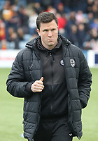 Partick Thistle Manager Gary Caldwell before the SPFL Ladbrokes Championship football match between Queen of the South and Partick Thistle at Palmerston Park, Dumfries on  4.5.19.