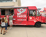 Prairie Meadows was a buss with exotic and worldly foods during its Food Truck Festival held June 17. Big Red Food Truck was very busy all afternoon.