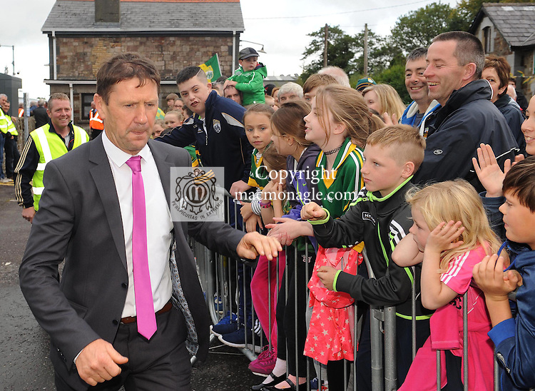 21-09-2015: Kerry minor football manager Jack O'Connor at the homecoming reception for the Kerry minor and senior football teams at Rathmore Railway station on Monday evening. Picture: Eamonn Keogh (macmonagle.com)