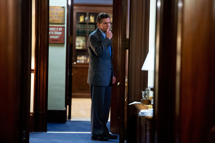 UNITED STATES - DECEMBER 06:  Sen. Jim DeMint, R-S.C., incoming president of the Heritage Foundation, is photographed in his Russell Building office. (Photo By Tom Williams/CQ Roll Call)