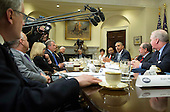 United States President Barack Obama speaks to the media as he meets with local elected officials and small business exporters on trade, at the White House in Washington, D.C. on March 25, 2015. <br /> Credit: Kevin Dietsch / Pool via CNP