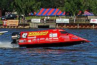 Shaun Torrente's Grand Prix/Mercury F1/Formula 1 class.Bay City River Roar, Bay City,Michigan USA.26-2821 June, 2009..©F. Peirce Williams 2009 USA.F.Peirce Williams.photography.ref: RAW (.NEF) File Available