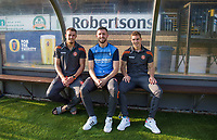 (l-r) Will De Havilland, Danny Rowe & Dayle Southwell of Wycombe Wanderers ahead of the match during the Friendly match between Wycombe Wanderers and AFC Wimbledon at Adams Park, High Wycombe, England on 25 July 2017. Photo by Andy Rowland.