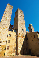Medieval Towers around Plazza Duomo - San Gimignano - Italy