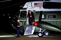 United States President Donald J. Trump arrives aboard Marine One on the South Lawn of the White House, on Sunday, Feb. 3, 2019 in Washington, D.C., U.S., after spending the weekend at Trump's Mar-a-Lago club in Florida. Photo Credit: Al Drago/CNP/AdMedia