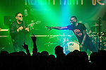 © Joel Goodman - 07973 332324 . 11/04/2015 . Manchester , UK . Black Grape perform a reunion gig in support of Bez's Reality Party at the Old Granada Studios Warehouse . Photo credit : Joel Goodman