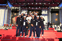 At the presentation after the Singles matches at the Ryder Cup, Hazeltine National Golf Club, Chaska, Minnesota, USA.  03/10/2016<br /> Picture: Golffile   Fran Caffrey<br /> <br /> <br /> All photo usage must carry mandatory copyright credit (&copy; Golffile   Fran Caffrey)