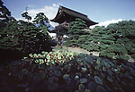 "More than 8 million people a yearly make a pilgirmage to Nagano, Japan to the Zenkoji Temple, the mecca of Buddhism.  The towering two-tiered, thatched-roof  temple that was build in 624 AD, was designed in 1707 a national treasure. The temple's garden, which dates from the 14th century, is known as one of the hundred famous gardens of Japan.""    (Jim Bryant Photo)....."