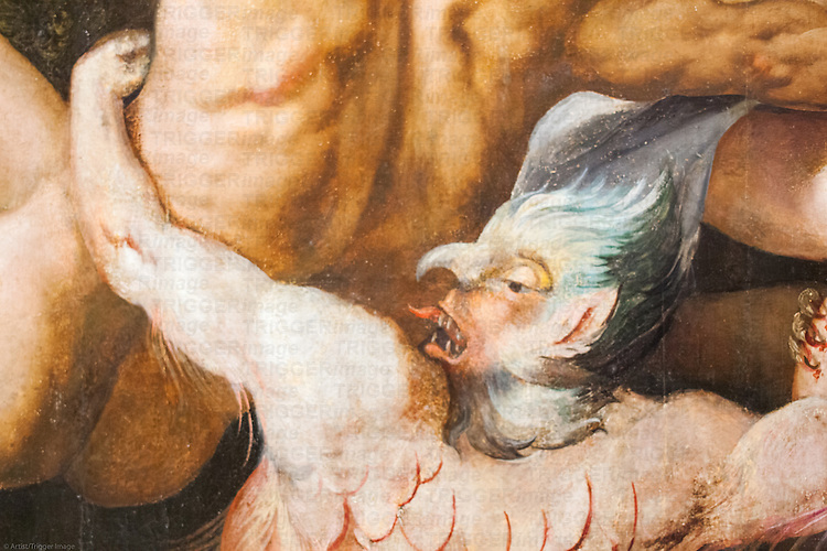 Demon, detail from the Final Judgement painting (1570) by Martin de Vos. Museum of Fine Arts, Seville, Spain