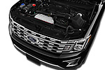 Car stock 2019 Ford Expedition XLT MAX 4x2 5 Door SUV engine high angle detail view