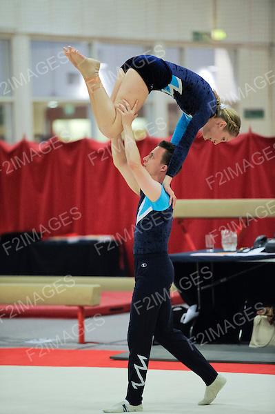 17.11.12 British Gymnastics Veterans National Championships. Benfield Sports Centre Newcastle England. John Murray  Jennifer Gilbert