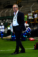 PALMIRA - COLOMBIA - 24 - 02 - 2018: Gerardo Pelusso, técnico de Deportivo Cali, durante partido entre Deportivo Cali y Millonarios de la fecha 5 por la liga Aguila I 2018, jugado en el estadio Deportivo Cali (Palmaseca) en la ciudad de Palmira. / Gerardo Pelusso, coach of Deportivo Cali, during a match between Deportivo Cali and Millonarios of the 5th date for the Liga Aguila I 2018, at the Deportivo Cali (Palmaseca) stadium in Palmira city. Photo: VizzorImage  / Nelson Rios / Cont.
