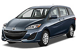 Front three quarter view of a 2012 Mazda Mazda5 .