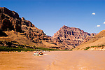 Scenic, Grand Canyon Boat Trip, Boating, pontoon boat on Colorado River, Arizona, AZ, cliffs, landscape, horizontal, arid, erosion, nature, muddy water, no model release, Image nv465-18558.Photo copyright: Lee Foster, www.fostertravel.com, lee@fostertravel.com, 510-549-2202