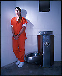 Chantal Forrester McCorkle photographed at the Lake County Detention Center in Tavares, Florida where she is an inmate on July 3, 1999 for British Cosmopolitan magazine.