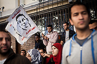 CAIRO, EGYPT - JANUARY25: Group of protesters against the army and not pro Morsi were gathered in front of the syndicate of journalist in order to protest against the military coup on January 25, 2014, AFP PHOTO/VIRGINIE NGUYEN HOANG