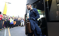 Borja Baston of Swansea City arrives at Vicarage Road Stadium prior to kick off of the Premier League match between Watford and Swansea City at Vicarage Road Stadium, Watford, England, UK. Saturday 15 April 2017