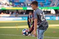 SAN JOSÉ CA - JULY 27: Cole Bassett #26 during a Major League Soccer (MLS) match between the San Jose Earthquakes and the Colorado Rapids on July 27, 2019 at Avaya Stadium in San José, California.