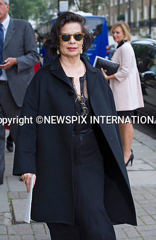 11.09.2014;London, England: BIANCA JAGGER<br /> attends the Memorial Service for Mark Shand at St Paul's Knightsbridge,London.<br /> Mark, Camilla's brother died in New York earlier this year.<br /> Mandatory Photo Credit: &copy;Francis Dias/NEWSPIX INTERNATIONAL<br /> <br /> **ALL FEES PAYABLE TO: &quot;NEWSPIX INTERNATIONAL&quot;**<br /> <br /> PHOTO CREDIT MANDATORY!!: NEWSPIX INTERNATIONAL(Failure to credit will incur a surcharge of 100% of reproduction fees)<br /> <br /> IMMEDIATE CONFIRMATION OF USAGE REQUIRED:<br /> Newspix International, 31 Chinnery Hill, Bishop's Stortford, ENGLAND CM23 3PS<br /> Tel:+441279 324672  ; Fax: +441279656877<br /> Mobile:  0777568 1153<br /> e-mail: info@newspixinternational.co.uk