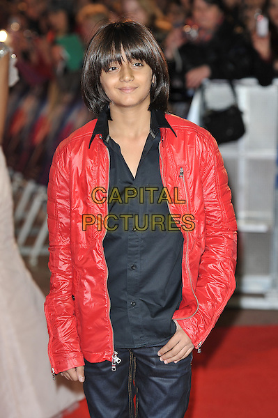 Arman Varma.'RA. One' UK premiere at Cineworld, O2 Arena, Greenwich, London, England..25th October 2011.half length black shirt red leather jacket .CAP/MAR.© Martin Harris/Capital Pictures.