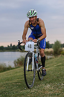 Box End Evening Off road Triathlon and Aquathlon - Race 4 at Box End Park, Kempston, England on 18 August 2016. Photo by David Horn / PRiME Media Images.