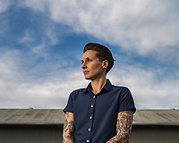 Renée Periat, owner of Androgynous Fox clothing, in San Luis Obispo, Calif. on Jan 30, 2020.