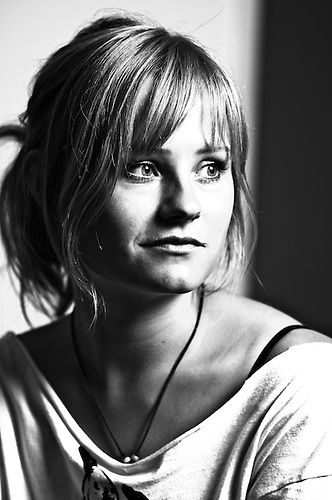 Blond portrait female
