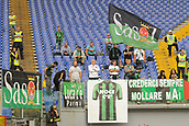 1st October 2017, Stadio Olimpico, Rome, Italy; Serie A football, Lazio versus Sassuolo; Fans of Sassuolo scarce in the stands