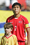 06 July 2007: North Korea captain Kum Il Kim (7), pregame. Argentina's Under-20 Men's National Team defeated North Korea's Under-20 Men's National Team 1-0 in a Group E opening round match at Frank Clair Stadium in Ottawa, Ontario, Canada during the FIFA U-20 World Cup Canada 2007 tournament.