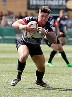 Andy Ackers in action for London during the Kingstone Press Championship game between London Broncos and Sheffield Eagles at Ealing Trailfinders, Ealing, on Sun July 9,2016