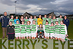 CHAMPIONS: Listowel Celtic Girls who won the Kerry under 17 Girls Cup Final at Christy Leahy Park, Mounthawk,. Tralee, on Monday evening by defeating the Camp Park,Tralee. Front l-r: Charley O'Neill, Emma Thornton, Aoife Shine, Lauren Flavin, Olivia Scanlon (capt), Cian Horgan, Rebecca Horgan, Megan Carroll, Savenna McCarthy and Aisling Grimes. Back l-r: Dominic Scanlon (manager), Kylie Walsh, Abbey McMahon, Geraldine Walsh, Caoimhe Dowling, Colette Foley, Sarah Tracy, Louise Horgan, Megan Fealy, Megan O'Connor, Erin Finucane, Nancy O'Neill and Mary Horgan (manager). ....