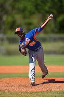New York Mets pitcher Ruben Reyes (65) during a minor league spring training game against the Miami Marlins on March 30, 2015 at the Roger Dean Complex in Jupiter, Florida.  (Mike Janes/Four Seam Images)