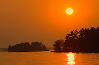 Sunset on Lake Muskoka<br /> Muskoka Beach<br /> Ontario<br /> Canada