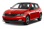 2016 Skoda Fabia Monte-Carlo 5 Door Hatchback Angular Front stock photos of front three quarter view