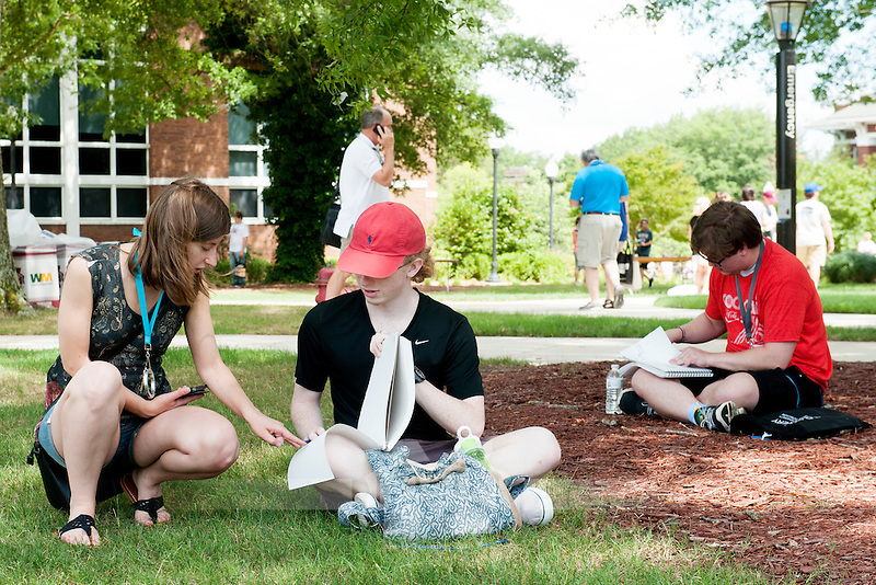 Students on the Drill Field at Design Discovery Camp<br />