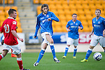St Johnstone v Ross County....SPFL Development League...19.08.14<br /> Murray Davidson is closed down by Tony Dingwall<br /> Picture by Graeme Hart.<br /> Copyright Perthshire Picture Agency<br /> Tel: 01738 623350  Mobile: 07990 594431