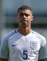 Cameron Humphreys (Manchester City) of England U19 during the International match between England U19 and Netherlands U19 at New Bucks Head, Telford, England on 1 September 2016. Photo by Andy Rowland.
