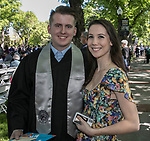 Michael Breault and Ashley Chinzi during the University of Nevada College of Engineering, College of Science and Orvis School of Nursing graduation ceremony on Thursday evening, May 18, 2017.