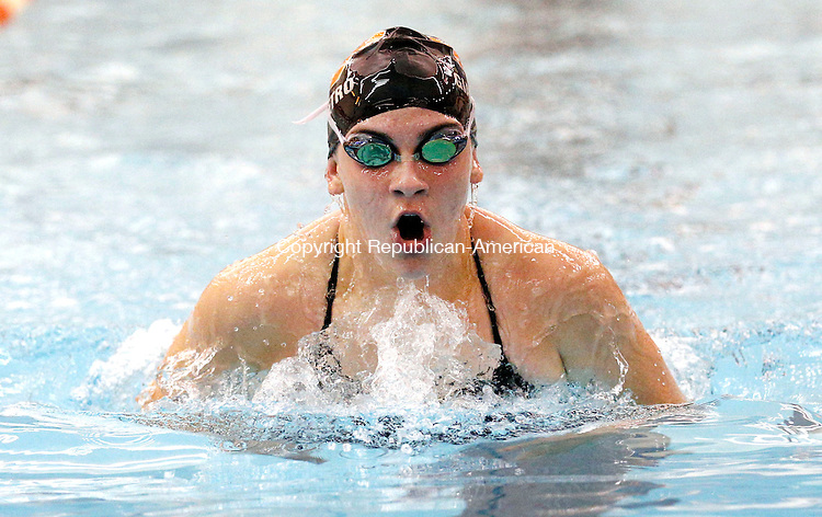 Watertown, CT- 29 September 2015-092915CM06- Watertown's Lauren ​Giampetro competes in the 200 yard IM during a meet against Sacred Heart on Tuesday.      Christopher Massa Republican-American