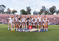 PASADENA, CA - AUGUST 4: The USWNT poses for the starting XI photo during a game between Ireland and USWNT at Rose Bowl on August 3, 2019 in Pasadena, California.