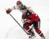 Erin Connolly (BC - 15), Kasidy Anderson (NU - 37) -  The Boston College Eagles defeated the Northeastern University Huskies 2-1 in overtime to win the 2017 Hockey East championship on Sunday, March 5, 2017, at Walter Brown Arena in Boston, Massachusetts.