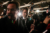 Columbia, South Carolina.USA.February 3, 2004..Senator John Edwards greets a crowd of supporters just after being delared the winner of the South Carolina primary.