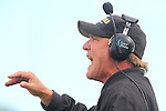 Palos Verdes, CA 09/30/11 - Coach Kevin Moen in action during the Lawndale-Peninsula Varsity football game.