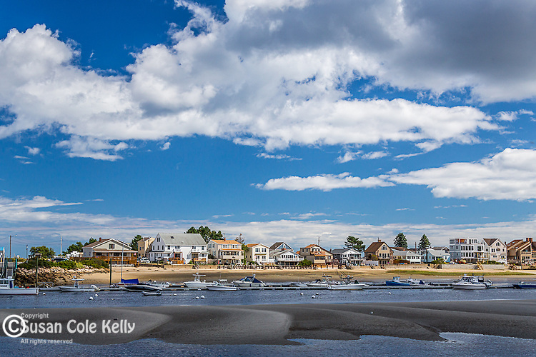 The Webhannet River estuary in Wells, Maine, USA