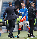 05.05.2019 Rangers v Hibs: Ross McCrorie and Steven Gerrard