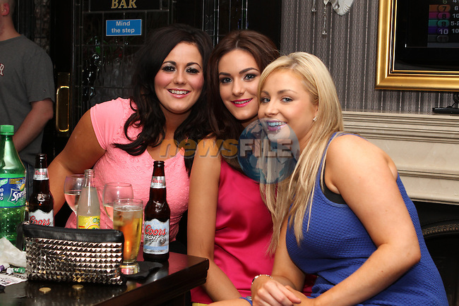 Kayleigh Dillon, Lorraine Gearthy and Leanne Malone in the Pheasant...Photo NEWSFILE/Jenny Matthews.