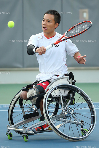 Takashi Sanada (JPN),<br /> OCTOBER 23, 2014 -  WheelChair Tennis : <br /> Men's Singles Final<br /> at Yeorumul Tennis Courts<br /> during the 2014 Incheon Asian Para Games <br /> in Incheon, South Korea. <br /> (Photo by Shingo Ito/AFLO SPORT)